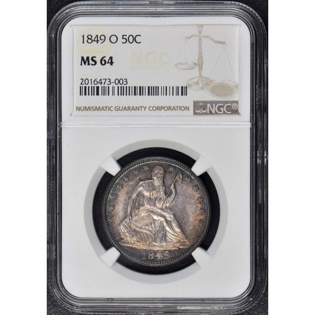 1849-O Seated Liberty Half Dollar - No Motto 50C NGC MS64