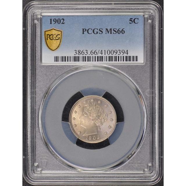 1902 5C Liberty Nickel PCGS MS66