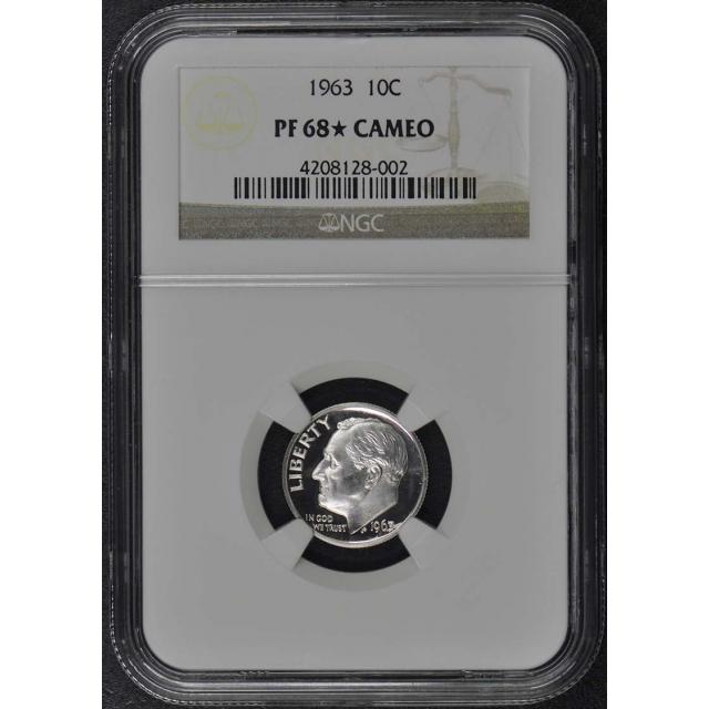 1963 Roosevelt Dime (Silver) 10C NGC PR68CAM