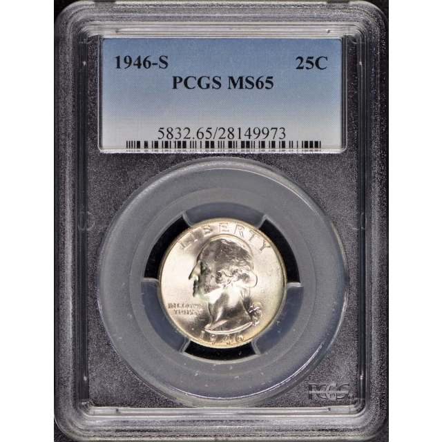 1946-S 25C Washington Quarter PCGS MS65