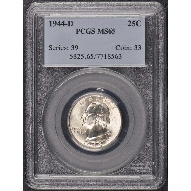 1944-D 25C Washington Quarter PCGS MS65