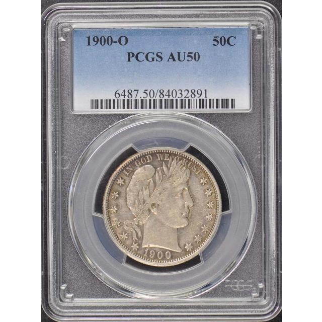 1900-O 50C Barber Half Dollar PCGS AU50