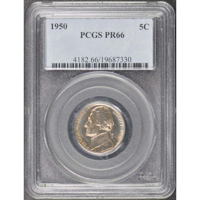 1950 5C Jefferson Nickel PCGS PR66