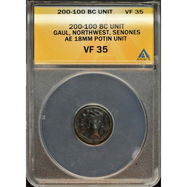 200-100 BC Unit Gual Northwest Senones ANACS VF35