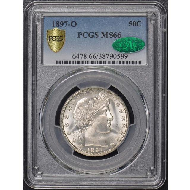 1897-O 50C Barber Half Dollar PCGS MS66 CAC