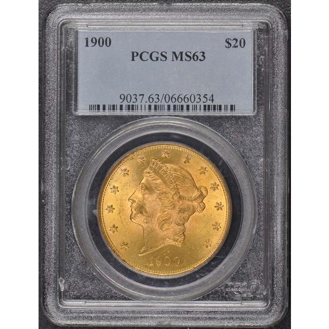1900 $20 Liberty Head Double Eagle PCGS MS63