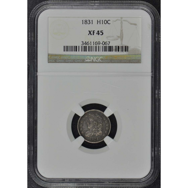 1831 Capped Bust Half Dime H10C NGC XF45