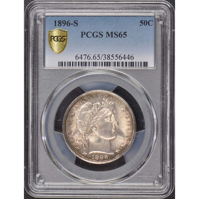 1896-S 50C Barber Half Dollar PCGS MS65