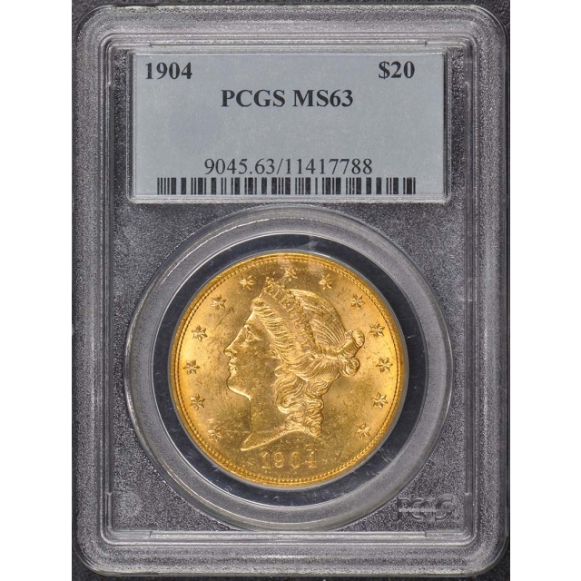 1904 $20 Liberty Head Double Eagle PCGS MS63
