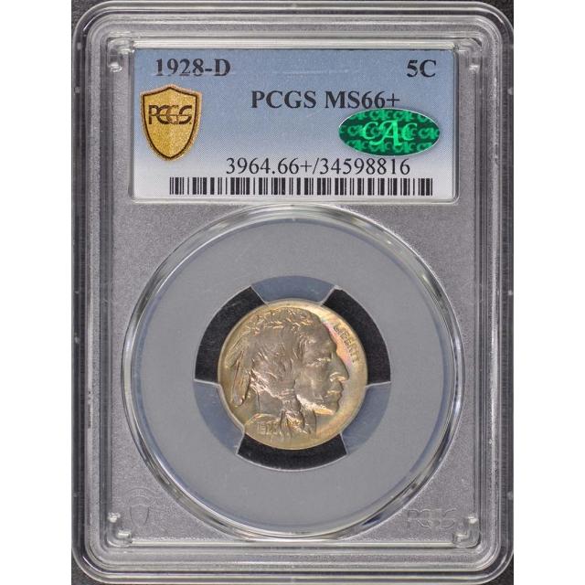 1928-D 5C Buffalo Nickel PCGS MS66+ (CAC)