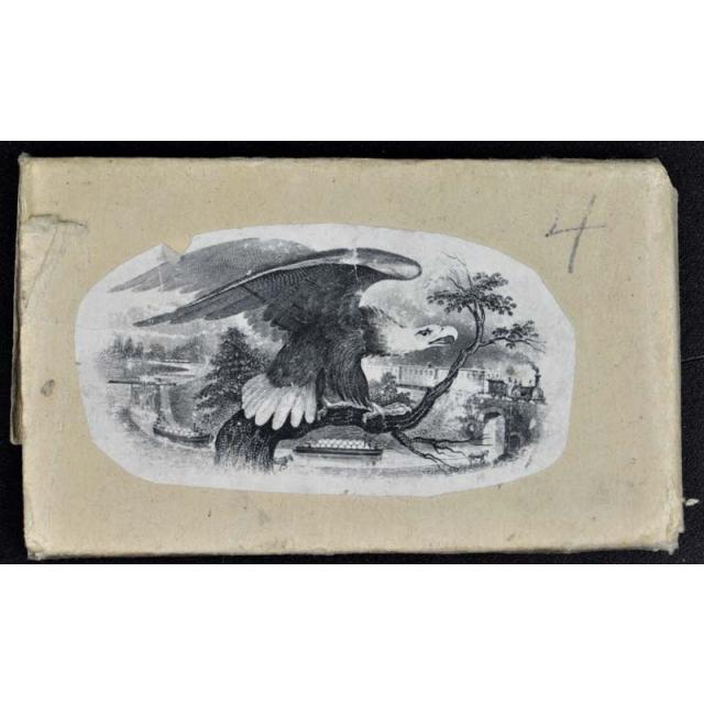 ABNC Steel Printing plate Patriotic American Eagle with Train W/ Printed Sleeve