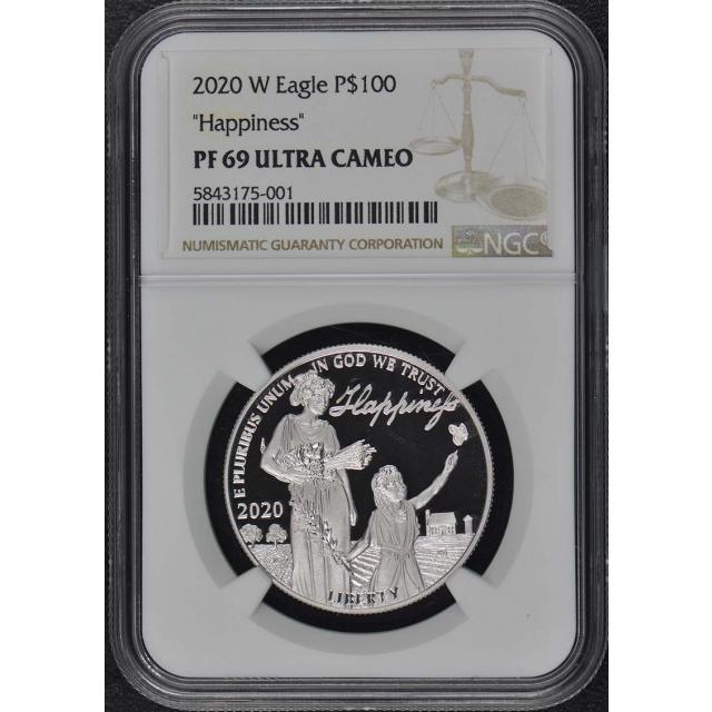 2020-W Platinum Eagle $100 Happiness NGC PF69UC