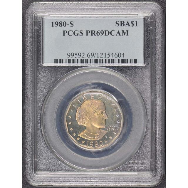 1980-S SBA$1 Susan B. Anthony Dollar PCGS PR69DCAM