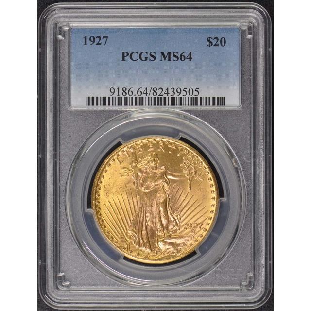 1927 $20 Saint Gaudens PCGS MS64