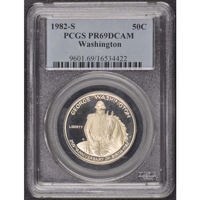 1982-S 50C Washington Modern Silver Commemorative PCGS PR69DCAM