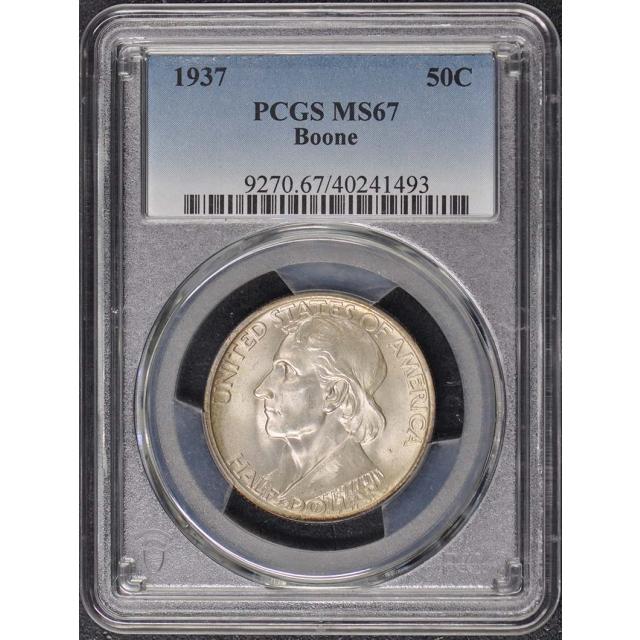 BOONE 1937 50C Silver Commemorative PCGS MS67