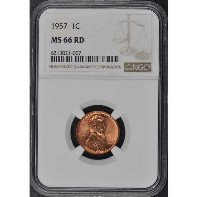 1957 Wheat Reverse Lincoln Cent 1C NGC MS66RD