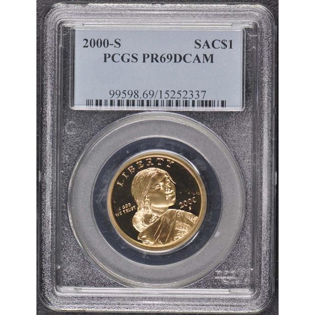 2000-S SAC$1 Sacagawea Dollar PCGS PR69DCAM