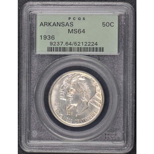 ARKANSAS 1936 50C Silver Commemorative PCGS MS64