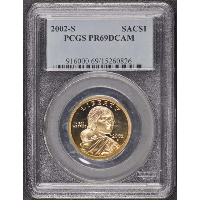 2002-S SAC$1 Sacagawea Dollar PCGS PR69DCAM
