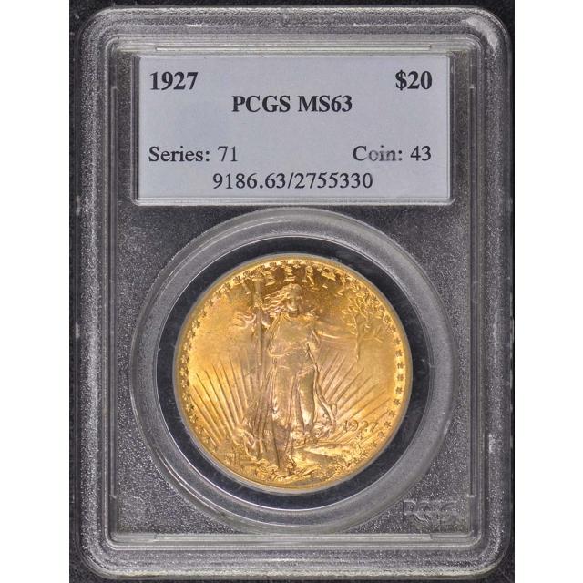 1927 $20 Saint Gaudens PCGS MS63