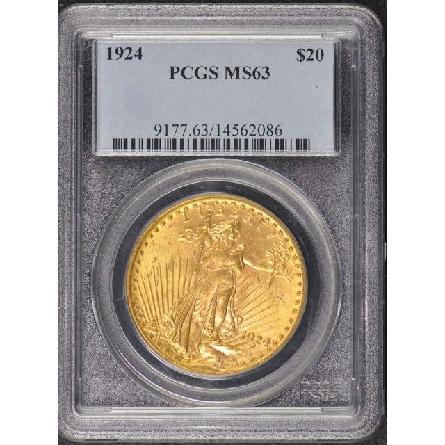 1924 $20 Saint Gaudens PCGS MS63
