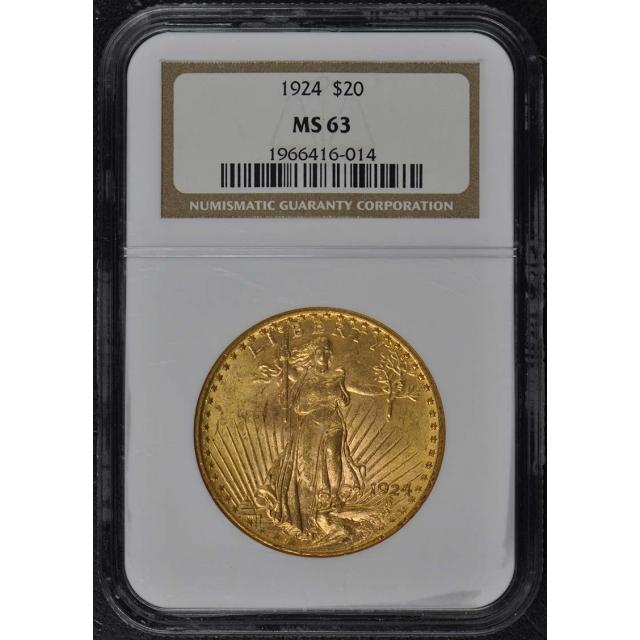 1924 Saint-Gaudens $20 NGC MS63