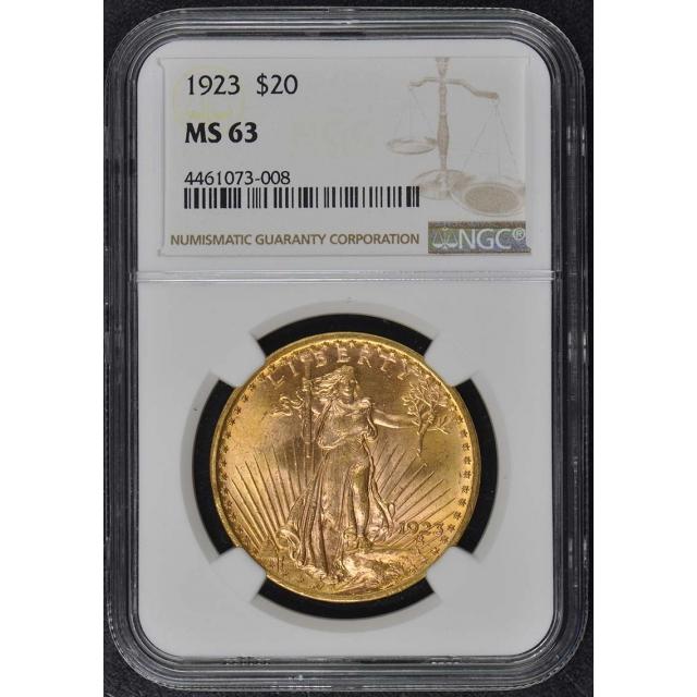 1923 Saint-Gaudens $20 NGC MS63
