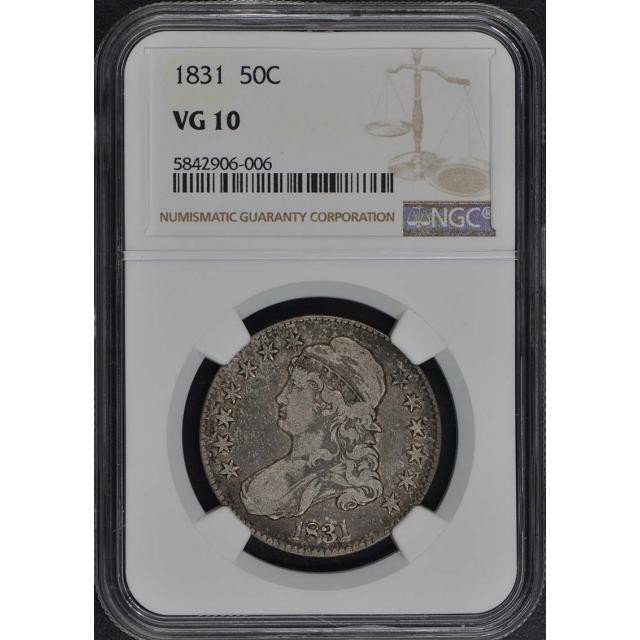 1831 Capped Bust, Lettered Edge 50C NGC VG10