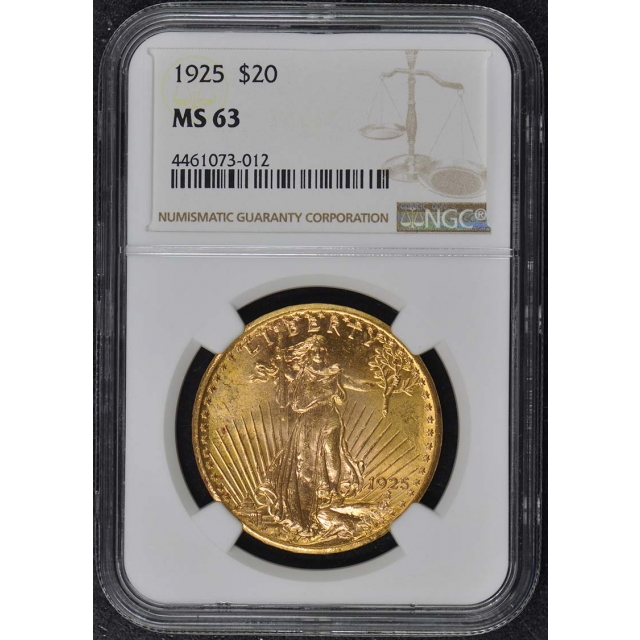 1925 Saint-Gaudens $20 NGC MS63