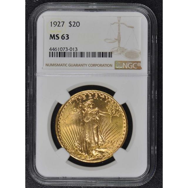 1927 Saint-Gaudens $20 NGC MS63