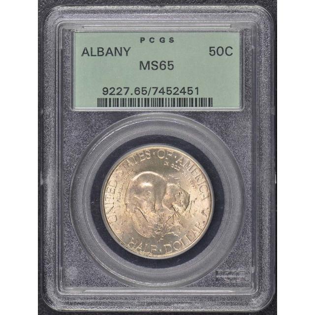 ALBANY 1936 50C Silver Commemorative PCGS MS65