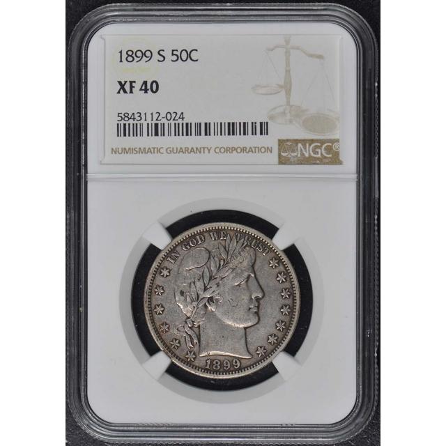 1899-S Barber Half Dollar 50C NGC XF40