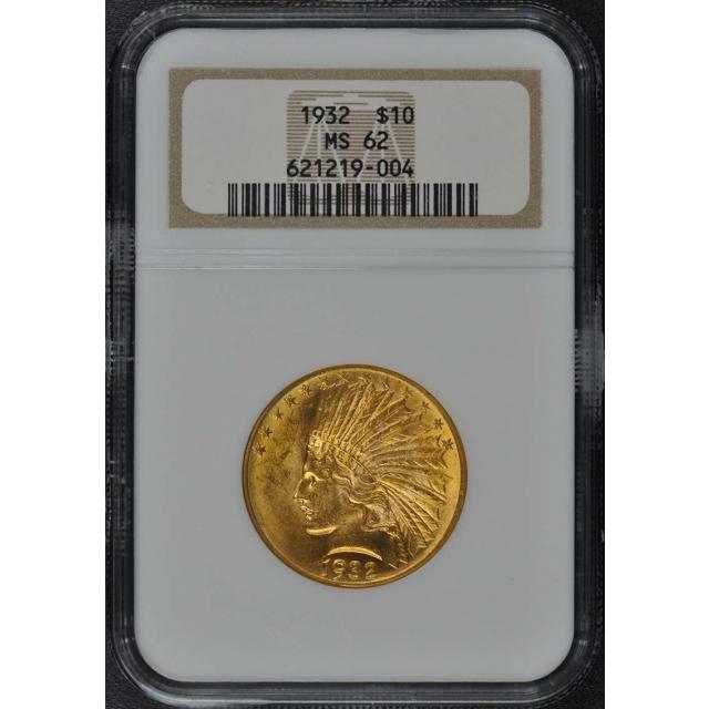 1932 Indian $10 NGC MS62