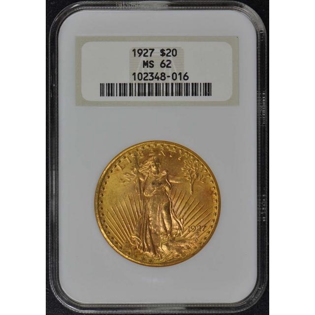 1927 Saint-Gaudens $20 NGC MS62