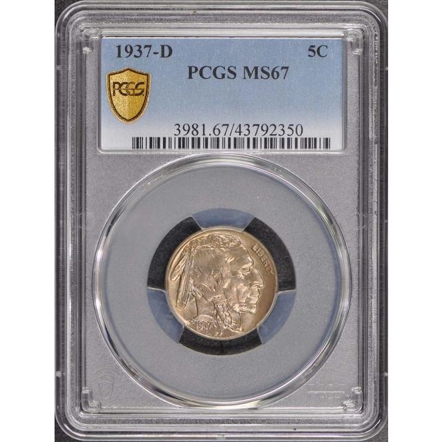 1937-D 5C Buffalo Nickel PCGS MS67