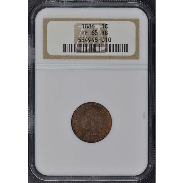 1886 Bronze Indian Cent 1C NGC PR65RB