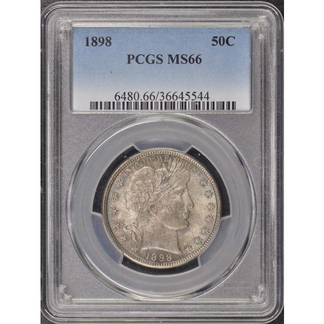 1898 50C Barber Half Dollar PCGS MS66
