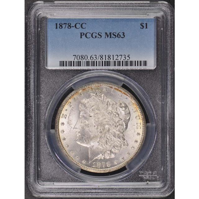 1878-CC $1 Morgan Dollar PCGS MS63
