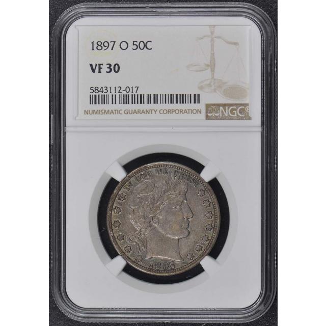 1897-O Barber Half Dollar 50C NGC VF30