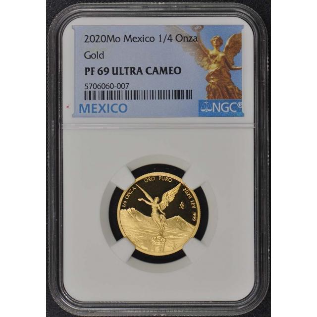 2020 Mo Mexico 1/4 Onza Libertad Gold NGC PF69 UC Mintage 250