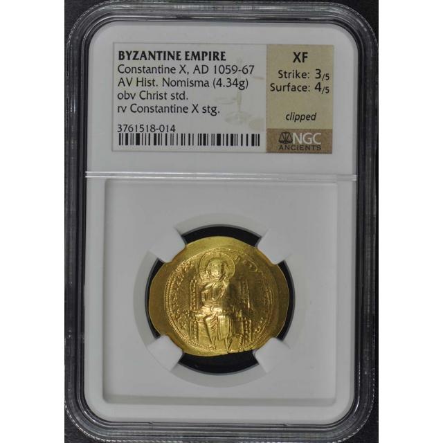 Constantine X, AD 1059-67 BYZANTINE EMPIRE AV Hist. Nomisma NGC XF40