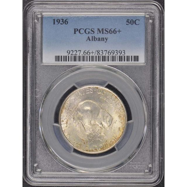 ALBANY 1936 50C Silver Commemorative PCGS MS66+