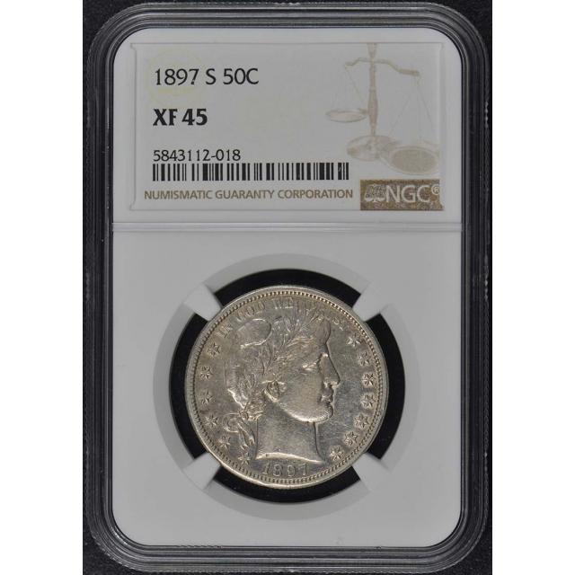 1897-S Barber Half Dollar 50C NGC XF45