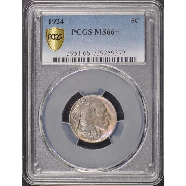 1924 5C Buffalo Nickel PCGS MS66+