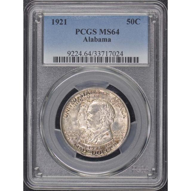 ALABAMA 1921 50C Silver Commemorative PCGS MS64