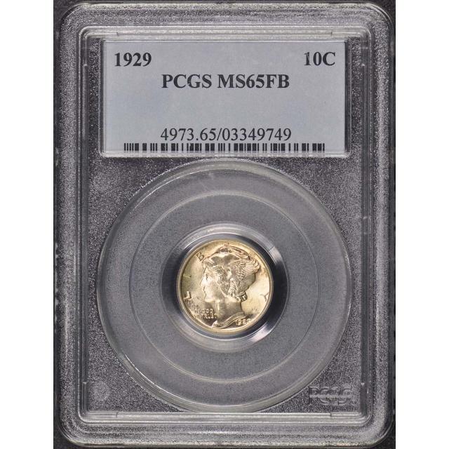 1929 10C Mercury Dime PCGS MS65FB