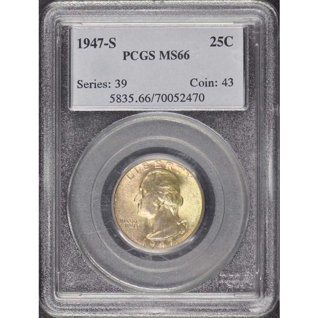1947-S 25C Washington Quarter PCGS MS66