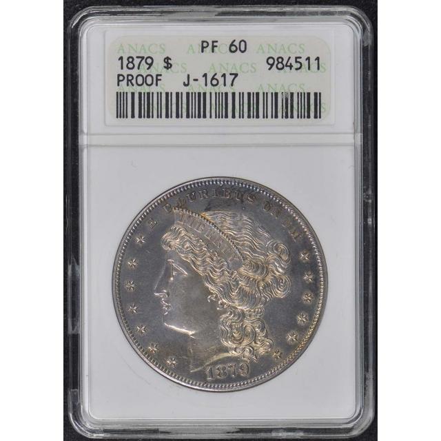 1879 $1 J-1617 Pattern ANACS PR60 Goloid