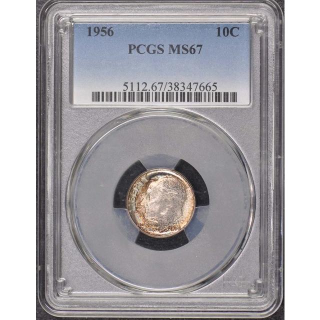 1956 10C Roosevelt Dime PCGS MS67